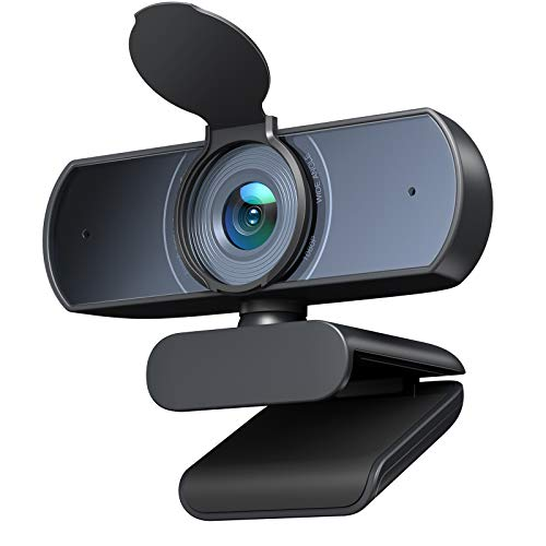 Victure Autofocus Webcam with Privacy Shutter, 1080P PC Webcam with Dual Built-in Microphones, Plug and Play Camera for Computer, Laptop, Desktop, Video Calling, Conferencing, Online Studying