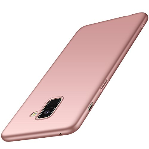 Anccer Coque Samsung Galaxy A8 2018 [Serie Mat] Resilient Conception Ultra Mince et Absorption des Chocs Coque pour Samsung Galaxy A8 2018 [Serie Mat] (Or Rose Lisse)