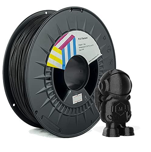 Eolas Prints Basics | Filamento PLA 1.75 | PLA Plus Impresora 3D | Apto para uso alimentario | Carrete Ligero | 1,75mm | Bobina 1Kg | Negro