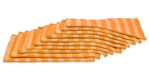 RESPEKT Mikrofaser Bamboo, 10tlg Geschirrtücher-Set, 60x40cm, Das Original aus dem TV!!! (orange)
