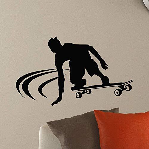 Fototapete Vinyl Aufkleber Junge Skateboard Wandtattoo Skateboard Stil Wandaufkleber Jungen Room Decor Skateboard Liebhaber 71 * 42 Cm