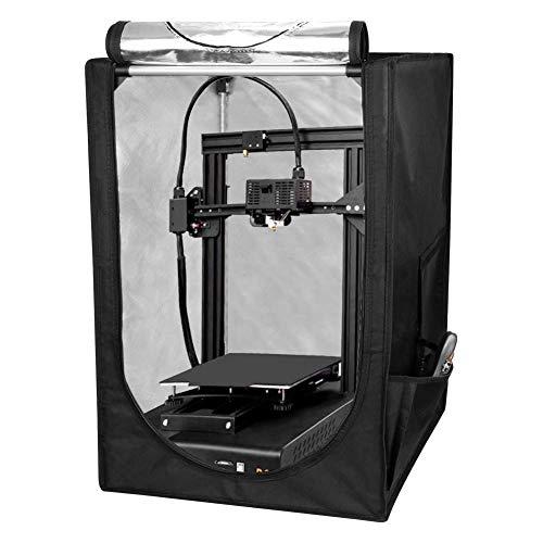 Carcasa de Impresora 3D, gran volumen 48 * 60 * 72 cm, insonorizada, resistente al agua, a prueba de polvo, a prueba de fuego para impresora 3D, carpa de impresora 3D