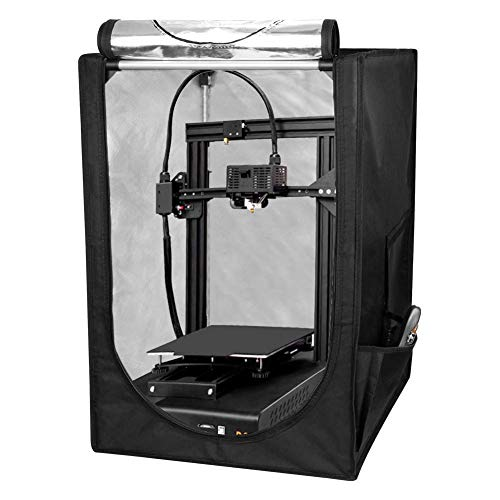 3D Printer Enclosure, Large Volume 48 * 60 * 72cm, Soundproof, Waterproof, Dustproof, Fireproof Tent for 3D Printer, 3D Printer Tent, Large Volume 48 * 60 * 72cm