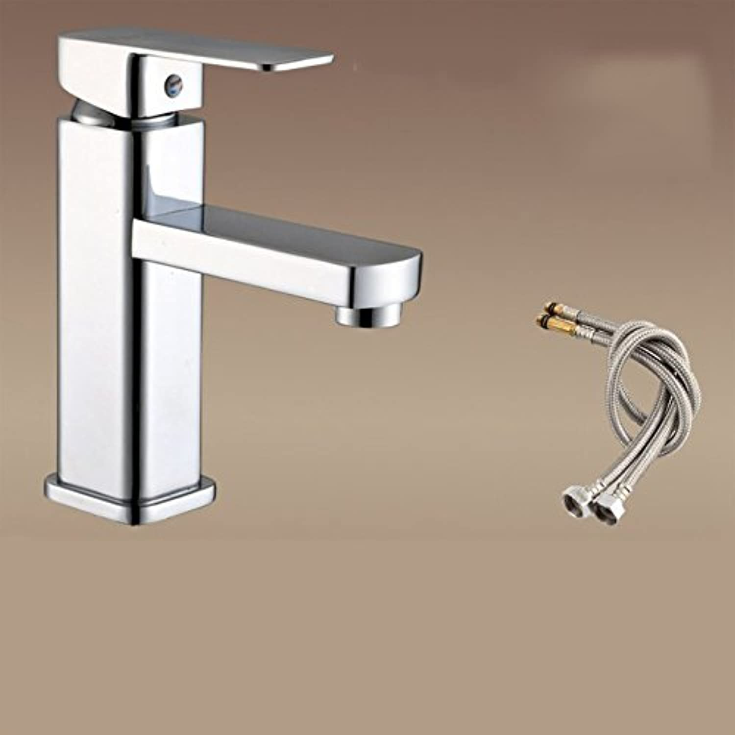Hlluya Professional Sink Mixer Tap Kitchen Faucet Single Handle single hole bathroom faucet, hot and cold