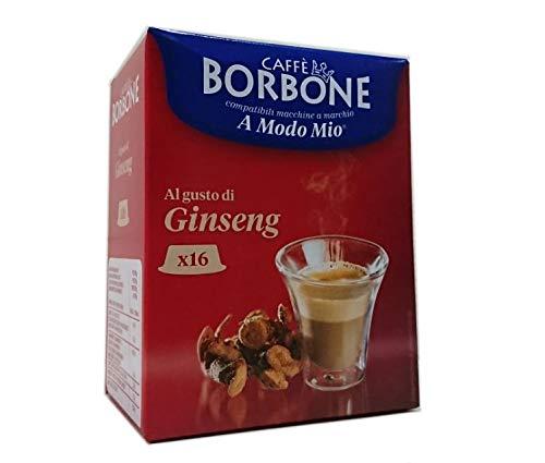 128 Capsule Comp. Lavazza A modo mio - Ginseng 8x16 - Caffè Borbone