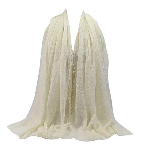 KPILP Premium Viskose Maxi Crinkle Cloud Hijab Schal Pashminas Soft Islam Muslim Kopftücher Umhang,Wine Red 6#
