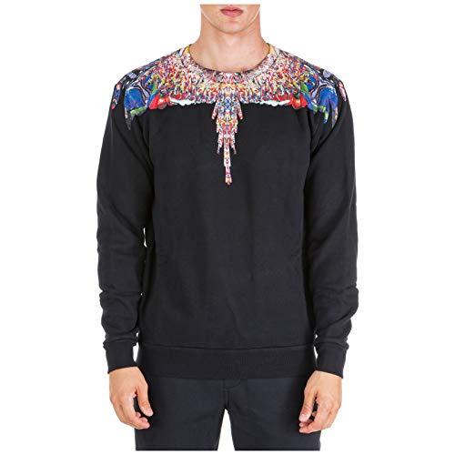 MARCELO BURLON Herren Sweatshirt Multicolor Wings Nero S