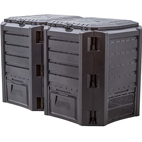 Prosper Plast iklm800 C-s411 135 x 71,9 x 82,6 cm Modul Compogreen Komposter, Schwarz