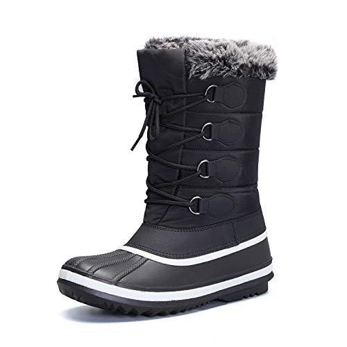 mysoft Women's Waterproof Winter Boots, Warm Insulated Snow Boots for Outdoor