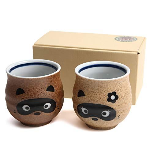 Mino Ware Japan - Mino yaki, tazza da tè di procione (set da 2)