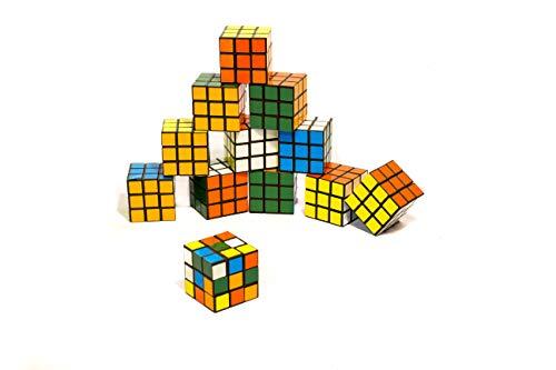 Flanacom Zauberwürfel Magic Cube Mini 3x3 12er Set Original Brainteaser Spiele für Unterwegs Kinder Geduldspiel