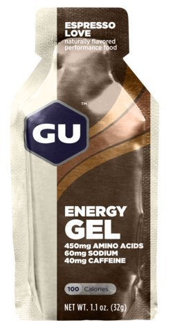 GU Energy Gel Espresso Love w/Caffeine Single 11 oz Packet