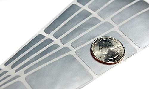 My Scratch Offs 1 x 1.5 Inch Silver Rectangle Scratch Off Sticker Labels - 100 Pack