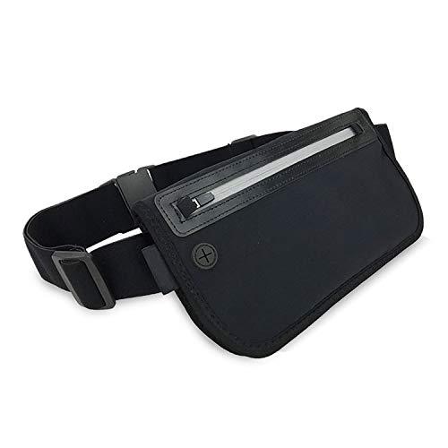 Flache RFID-sichere Bauchtasche, Hüfttasche, Waist Bag für Reisen, Outdoor Sports, Travel und Joggen, wasserressistant