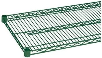 Excellante Epoxy Coating Wire Shelves Great interest Green Indefinitely by 72