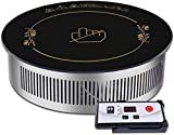 Double-ring Countertop Burner Far-infrared Electric Heating Plate Portable Electric Burner Single Hot Plate Home Use Countertop Cooktop Stainless Steel Indoor Adjustable Temperature Control Easy Clean