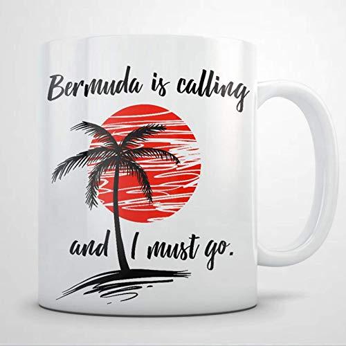 Bermuda Souvenirs Gift para mujeres y hombres Taza de café de 11 oz, Vacation i love travel Taza de té de cerámica personalizada Taza de bebida para Acción de Gracias, Navidad, Hogar y oficina, Cumple