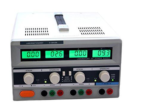 Duales regelbares Labornetzgerät 0-30V 5A beleuchtet EDI3005CIII LCD Labornetzteil Netzgerät