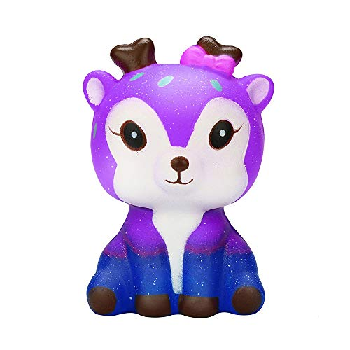 HUHU833(TM) Squishies Galaxy Deer,Slow Rising and Cream Scented Squishy Toys,Soft Squeeze Stress Relief Xmas Toy for Kids Adults