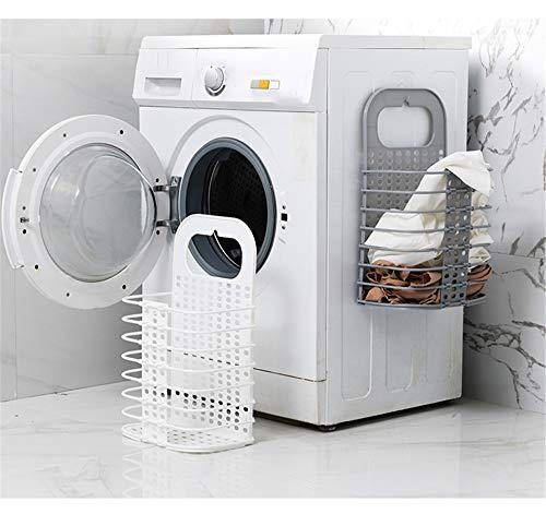 Huishoudelijke Badkamer Wandmontage Punch-Gratis Opvouwbare Vuile Kleding Mand, Punch-Gratis Kleding Speelgoed, Manden voor Huishoudelijke Vuile Kleding Kleur: wit
