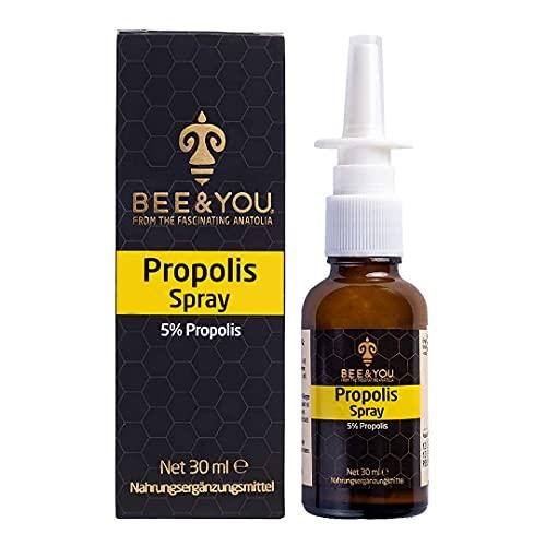 Bee&You Propolis Spray 30 ml (ohne Alkohol, Propolis Extrakt, Nasal Spray, für Kinder und Erwachsene)