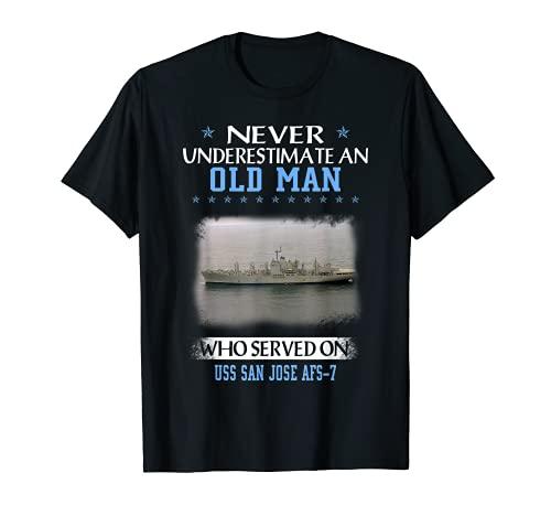USS San José AFS-7 Día de los Veteranos Día del Padre Camiseta