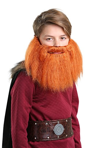 Child Red Viking Beard Standard