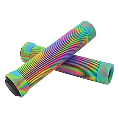 Z-FIRST Handle Bar Grips 145mm Soft Longneck Grips for Pro Stunt Scooter Bars and BMX Bikes Bars (U-Rainbow)
