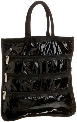 bolsas de charol negras fabricante LeSportsac