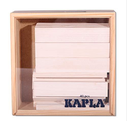 Kapla 8034 Holzplättchen 40-Teilig in Box Weiß - 2