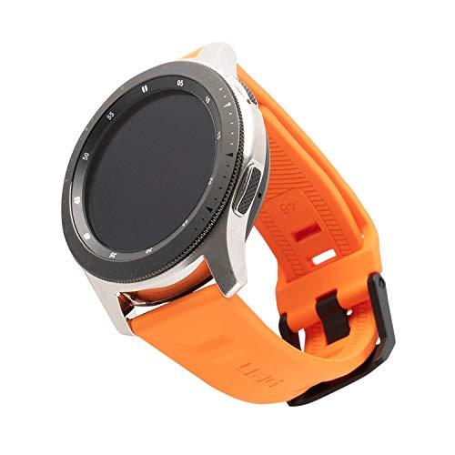 Urban Armor Gear Scout Brazalete para Reloj Samsung Galaxy Watch3 45mm, Galaxy 46mm, Gear S3 Frontier & Classic, Active 2 (44mm) [Correa de Repuesto de Silicona Suave, Cierre de Acero Inoxidable] Nara