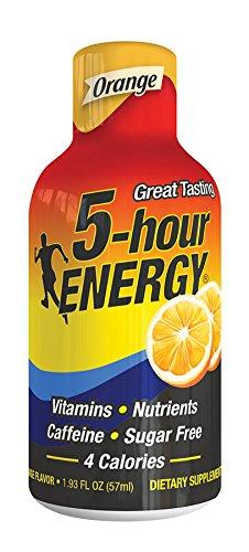 5 Hour Energy Drink Shot, Orange, 6 Count