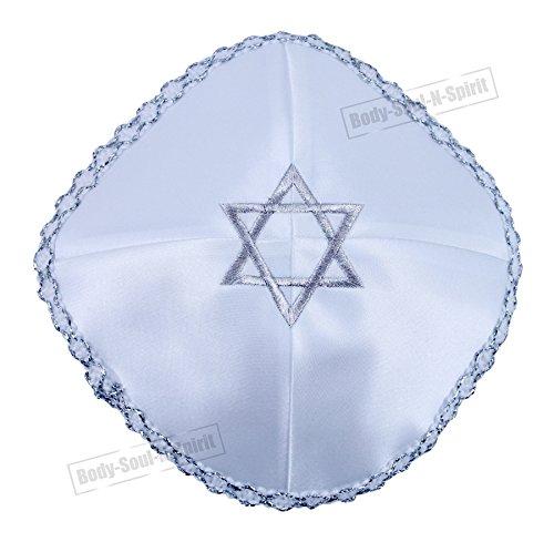 Estrella de David bordada Kipà clássica tejida cubrecabeza étnica judía gorra