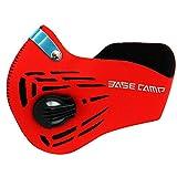 ZUMI マジックテープ式 低酸素マスク フィルター付き 肺活量 持久力 洗える 筋トレ ダイエット トレーニング (レッド)