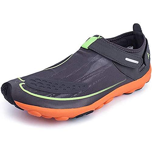 Waterschoenen Barefoot Sneakers Lichtgewicht ademende antislip Aqua schoenen voor mannen vrouwen Buiten vissen en boot,Grey,38