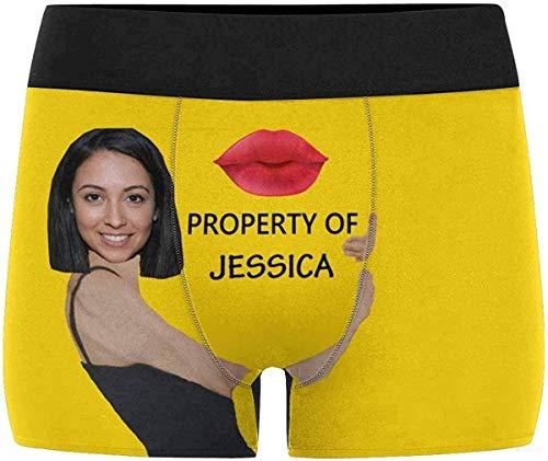 Bazingaaaaa Custom Face Kiss Property Of Herren Boxershorts Unterwäsche Shorts Unterhose mit Foto