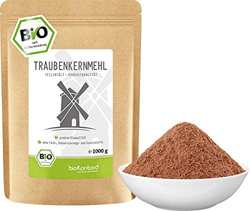 Traubenkernmehl BIO 1kg (1000 g) | teilentölt | 100% natürlich - ohne Zusatzstoffe I...