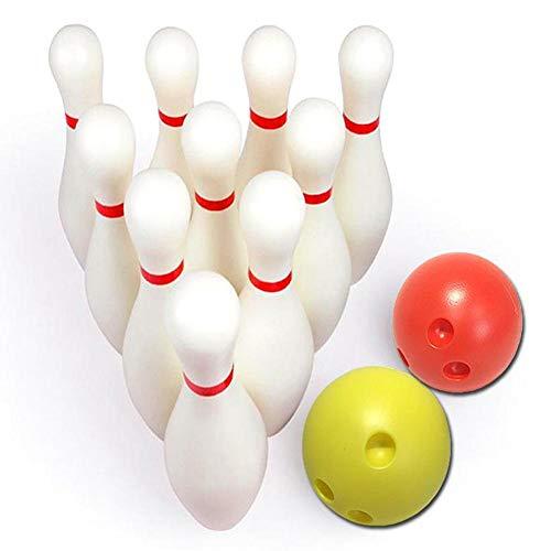 Kegelspiel Für Kinder, Kinder Bowling Set Enthält 10 Pins Und 2 Bälle, Mit Aufbewahrungsbox, Für Kinder Frühpädagogik Outdoor Garden Sports