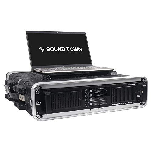 Sound Town - Funda ligera para DJ (2U PA, construcción de ABS, 19 pulgadas de profundidad y cierres resistentes (STRC-A2U)