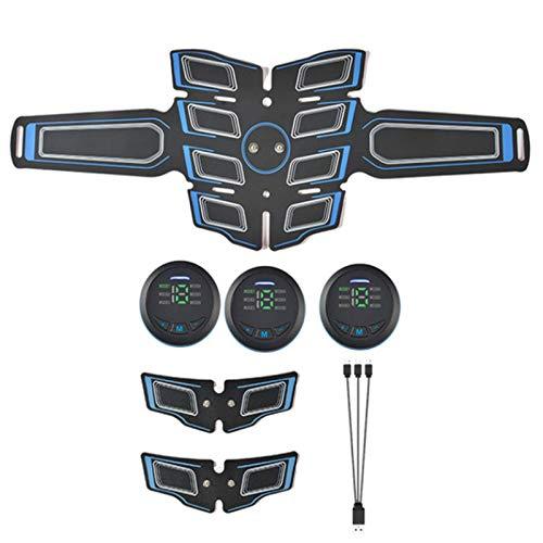 xxffyy Estimulador de Abdominales, Aparato Abdominal Inteligente, Cinturón de tonificación Abdominal EMS, Esculpido Muscular en casa - Equipo de Fitness, para Oficina Gimnasio en casa