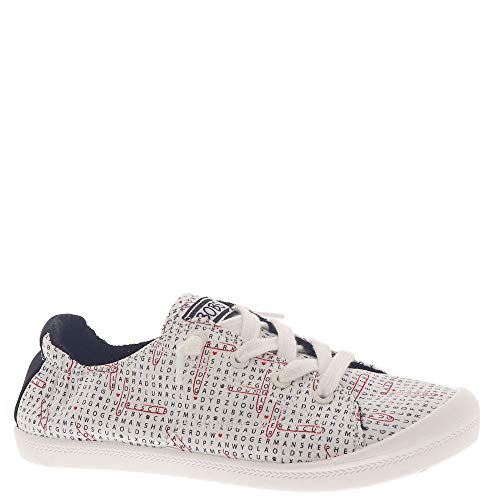 Skechers Bobs Beach Bingo-Search & Rescue Women's Slip On 8.5 B(M) US White-Black