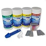 myPool Seerose Wasserpflege-Grundausstattungsset 4,5kg Chlor Algenschutz pH Minus/Plus Thermometer...