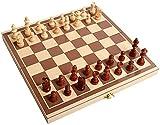 Riyyow Juego de tableros de ajedrez Conjunto Plegable portátil...