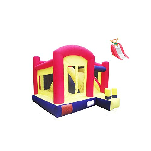 Licyen Inflatable Bouncy Castle Inflatable Party Castle With Water Slide Bouncer Jumping Bouncy Castle With Air Blower For Kids for Boys Girls (Color : Inflatable Castle, Size : 280x400x360cm)