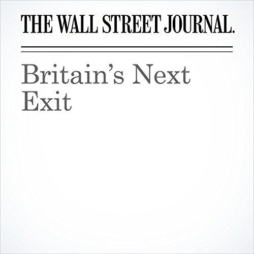 Britain's Next Exit copertina