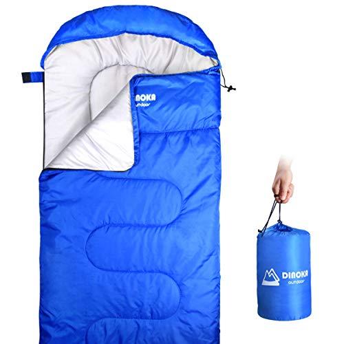 DINOKA Saco De Dormir para Acampar - Bolsa de Dormir 3 Estaciones Clim