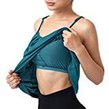 Hibelle Summer Tank Tops for Women, Casual Camisole Womens Loose Fit Shirt Shelf Bra Liner Tanks Double Layer Breathable Clothing Sleep Wear Ladies Dark Cyan X-Large