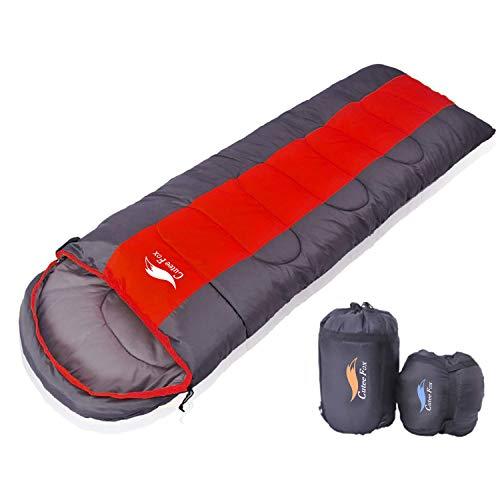 CuteeFox 寝袋 封筒型 軽量 シュラフ 防水 コンパクト【 選べる6色】1kg 1.4kg 1.8kg 2.2kg アウトドア 登山 車中泊 丸洗い 収納袋付き オールシーズン
