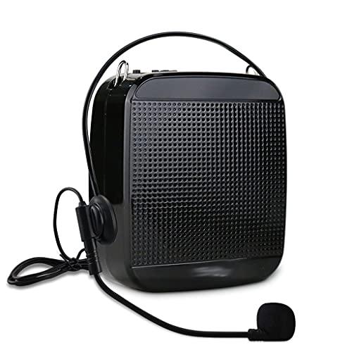 UOEIDOSB Amplificador de Voz Micrófono con Cable Portátil Portátil Cambio Audio Audio Altavoces para Profesores Guía de Turismo Yoga