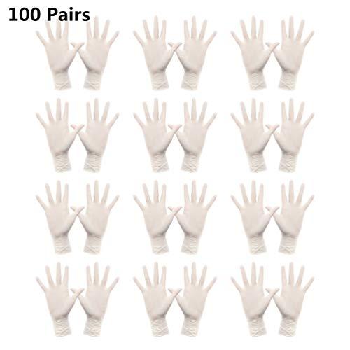 TOPBATHY 100 Paar Latex Handschoenen Beschermende Waterdichte Rubber Handschoenen Huishoudelijke Schoonmaak Handschoenen Voedsel Prep Handschoenen Voor Koken Tuinieren Schilderen